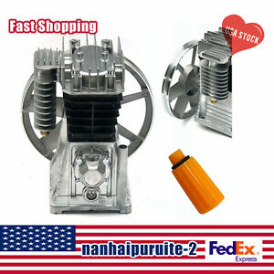 NEW 3HP 2.2KW Piston Cylinder Air Compressor Pump Motor Head w/Silencer+Screw US
