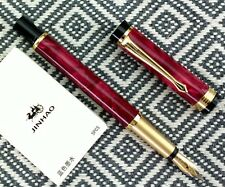 free ship 10 pcs JINHAO cartridges BLUE ink + RED marble fountain pen set