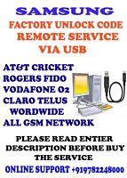 J727AZ or J326AZ CRICKET SAMSUNG REMOTE UNLOCK CODE SERVICE FOR SM-J327AZ or