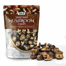 Shiitake Mushroom Crisps - Lightly Cooked and Seasoned 5.29 Ounce