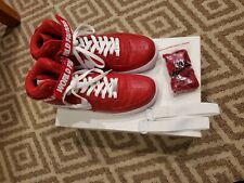 Air force 1 High Nike Supreme X  Red Basketball Men's Sz 10.5 Vintage EUC w BOX