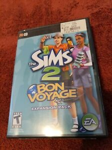 The Sims 2 Bon Voyage Expansion Pack PC CD-ROM Video Game Complete w/ Manual CIB