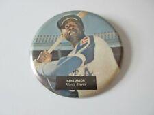 Hank Aaron Atlanta Braves  Vintage Baseball Pin-Back Button