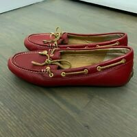 Sperry Top Sider Women's Boat Shoes Size US 6.5 Red Leather Loafer