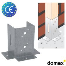 10x PSPDX 45 Stützenfuß Aufschraubhülse Pfostenschuh Zink galvanisiert Silbern