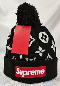 Supreme Beanie Hat Winter Cap Black