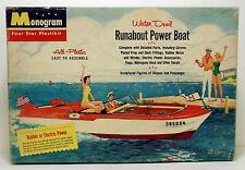 1956 Monogram Water Devil Runabout Power Boat Plastic Model Kit