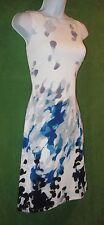 American Living by Ralph Lauren Off-White Blue Gray A-line Work Tea Dress 14 $94
