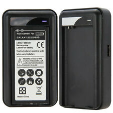 Wall Travel Spare Battery Charger with USB for Samsung Galaxy S5 i9600 Elegant