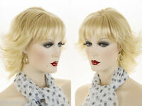 Modern Mid Length Straight Razor Style  Blonde Brunette Red Wigs Feathered Bangs