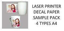 Laser Printer Decal Paper Starter Pack - 4 Different Types of Laser Paper