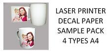 Impresora Láser calcomanía papel Starter Pack - 4 tipos diferentes de láser papel