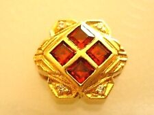 *Estate*Rare*Joshua*Diamond*Garnet*14kt Bracelet Slide*