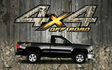 2 4x4 Off Road Truck Camouflage Skull Camo Truck Bed Decals Stickers-OROS
