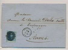 LM53923 Belgium 1850 old letters nice cover with good cancels used