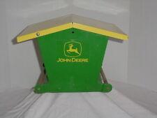Vintage ALL METAL JOHN DEERE BIRD FEEDER  /  POLE MOUNTED