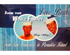 LOVE BOAT Nostalgie Reklame Werbeschild BOYS AHOY! / Blechschild Rockabilly
