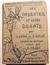 BOTANIQUE/VOL VI/INSECTES ET LEURS DEGAT LECHEVALIER/1931/96 PLANCHES COLORIEES