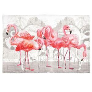 "Michel Design Works Hand Loomed Scatter Rug 20"" x 30"" Flamingo - NEW"
