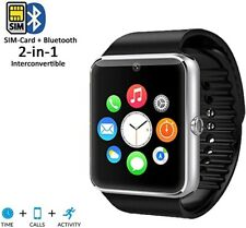 Indigi Smart Watch Built-in Camera Bluetooth Sync For All iPhone Android OS SP