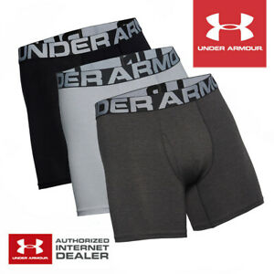 Under Armour Men's Charged Cotton 6'' Boxer Jock 3-Pack Dark Mix- NEW! 2021