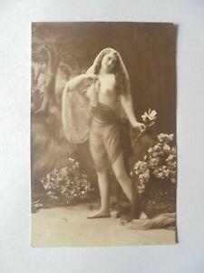 superbe cpa ancienne nue nu femme nue transparence érotique authentique nude