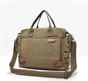 Men's Canvas Large Shoulder Bag Messenger Bag Handbag Satchel Travel