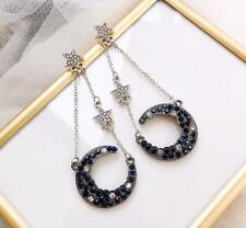 New Fashion BJ Alloy Rhinestone Star Moon Drop Earring Fashion Party Jewelry