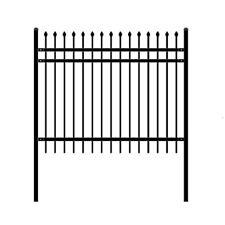 ALEKO Rome Style DIY Disassembled Steel Yard Fence 6Ft x 5Ft Black