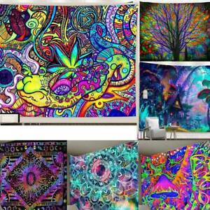 Psychedelic Mandala Wall Hangings Tapestry Bedspread Throw Covers Home Decors