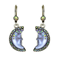 Kirks Folly Moon Shadow Goddess Leverback Earrings (Silvertone/Purple)