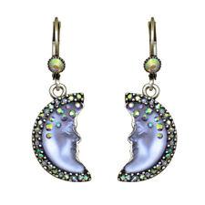 Kirks Folly Moon Shadow Goddess Leverback Earrings (Silvertone/Purple)