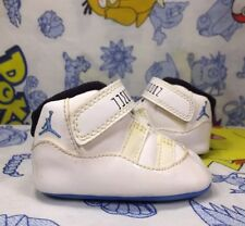 "2014 Nike Air Jordan Retro 11 ""Legend"" White/Legend Blue Toddler Shoes Size 1C"
