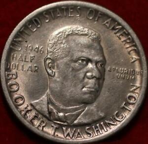 1946-S San Francisco Mint Booker T Washington  Silver Comm Half