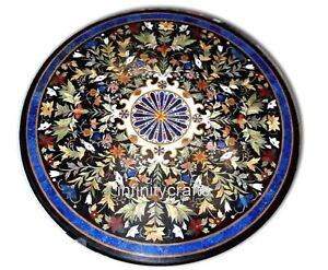 Marbre Dîner Table Haut Mosaïque Art Patio Table Pour Meubles Jardin 152cm