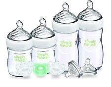 Nuk simply natural newborn Gift Set baby bottles pacifier transparent 9 pieces