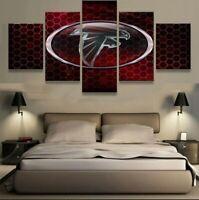 Atlanta Falcons Nation 5 pcs Painting Printed Canvas Wall Art Home Decorative