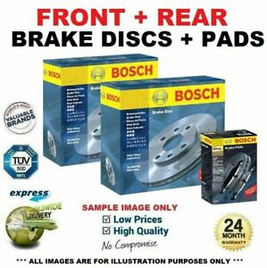 BOSCH FRONT + REAR BRAKE DISCS & PADS SET for VOLVO S80 II D5 2010->on