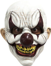 CHOMP THE CLOWN EVIL SCARY LATEX HEAD MASK HALLOWEEN HORROR