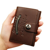 Men's Leather Trifold Wallets Leather Purse with RFID Blocking Card Case Holders