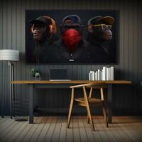 Canvas Prints Wall Art Wall Decors Canvas Painting Funny Monkey Print Art Poster
