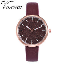 New Fashion Casual Watches Women's Leather Band Alloy Quartz Analog Wrist Watch