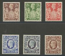 SG476-78c THE 1939-48 GVI HIGH VALUE SET OF 6 FRESH UNMOUNTED MINT(MNH) CAT £425