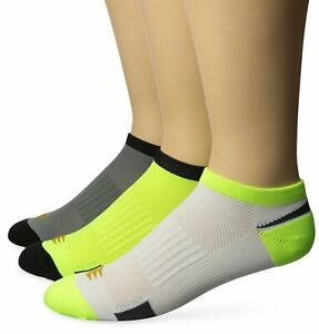 PowerSox Men's Lightweight No Show Socks with Mositure Control, 3 Pairs