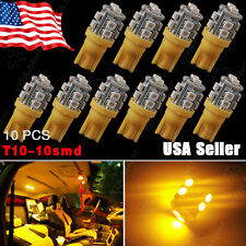 10X Amber Yellow T10 Wedge 10SMD LED Turn Light W5W 2825 158 192 168 194 906 147
