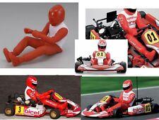 1:10 Nitro GO Kart Driver Figure x1 ( Man Driver) KT002 1/10 kyosho rc car Doll