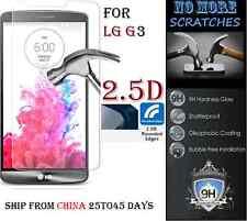 2.5D 9H REAL Tempered Glass Screen Protector LG G3 Vitre Trempé protecteur ecran