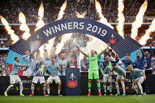 Manchester City - FA Cup Winners 2019 - A1/A2/A3/A4 Poster/Photo Print