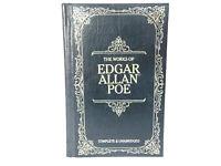The Works Of Edgar Allen Poe  Leather Hardcover 1983 Longmeadow Press Gold