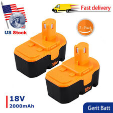 2XReplacement for Ryobi 18V Battery P100 P101 ONE+ ABP1801 ABP1803 BPP1820 Tools